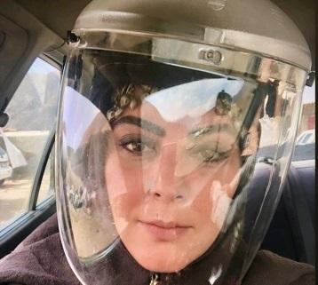 زره خانم بازیگر برای کرونا نگرفتن+عکس