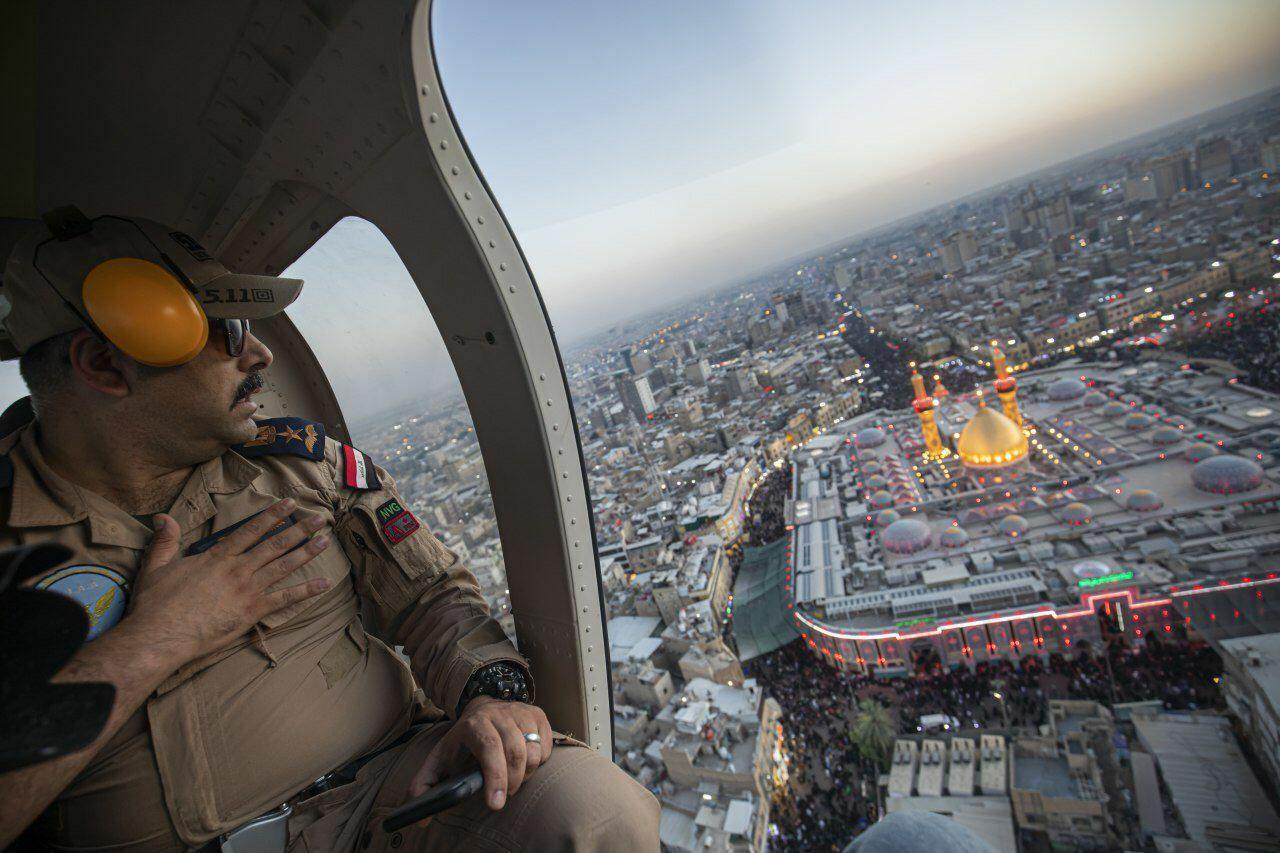 تصویر خاص از  حرم حضرت عباس در روز اربعین+عکس