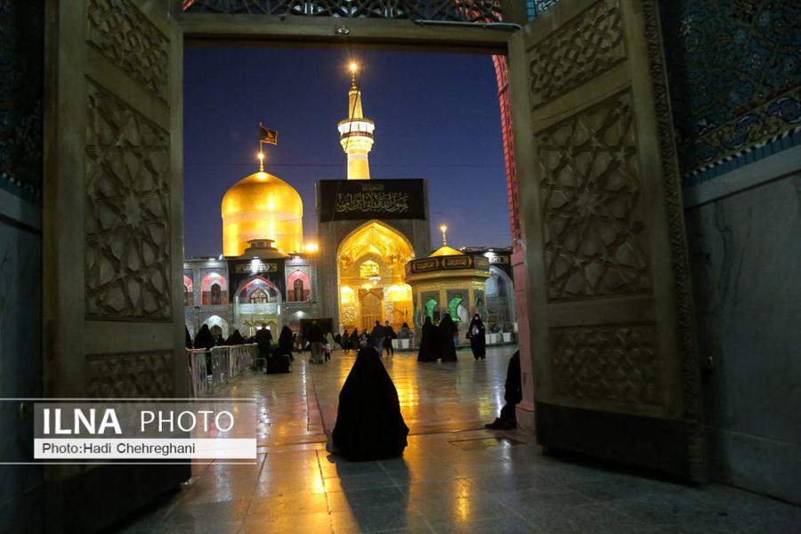 حال و هوای مشهد در شب شهادت امام رئوف + عکس