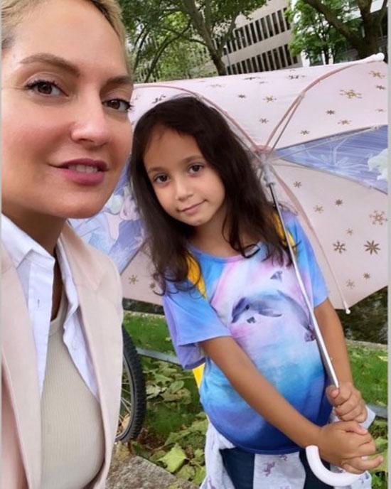 مهناز افشار بدون حجاب در کنار دخترش+عکس