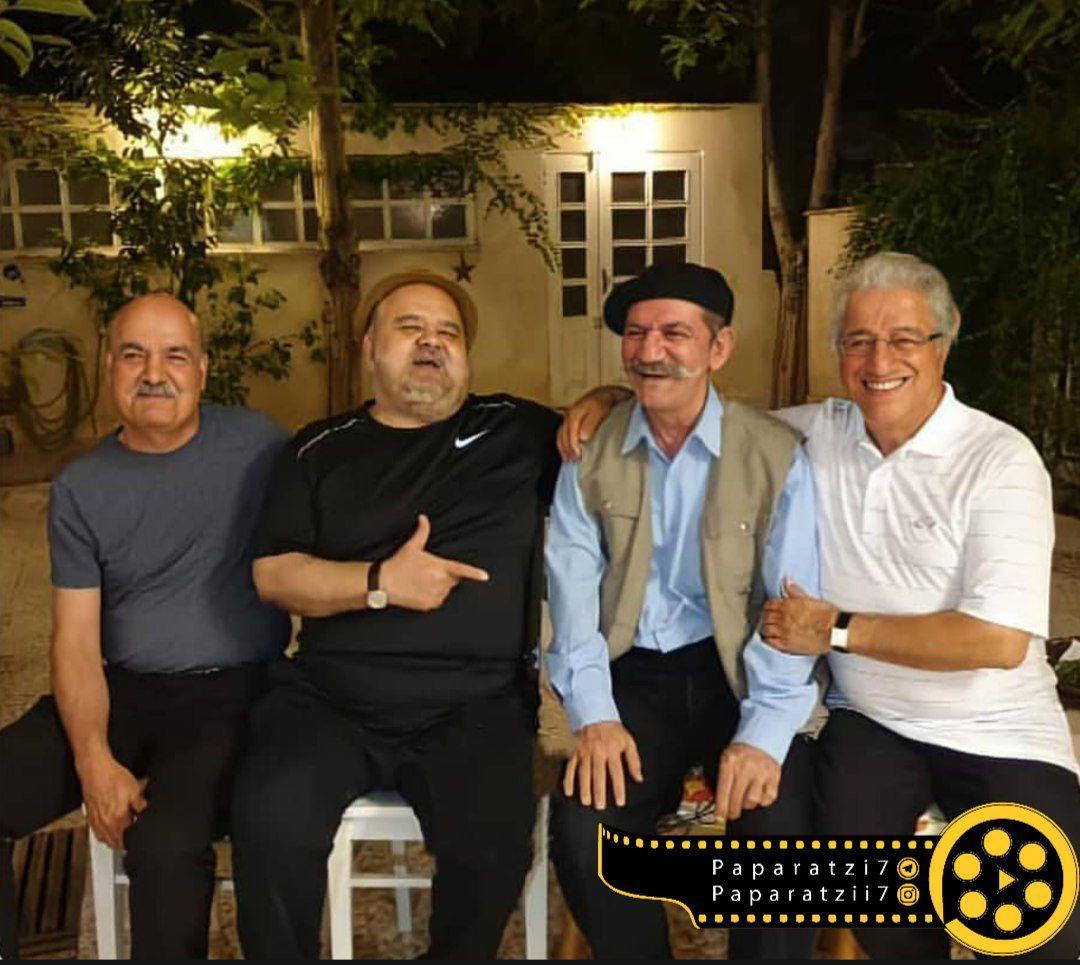 تصویر بی نظیر از بازیگران کمدی ایران در یک قاب+عکس