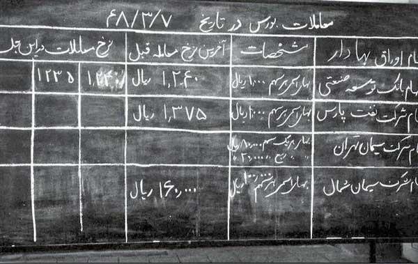 رونق بورس تهران در ۵۱ سال پیش+عکس