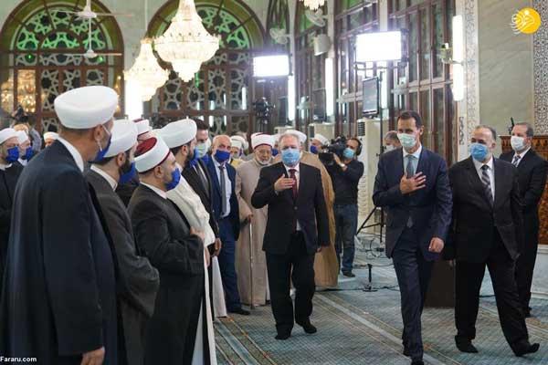 بشار اسد در جشن میلاد پیامبر(ص)+عکس