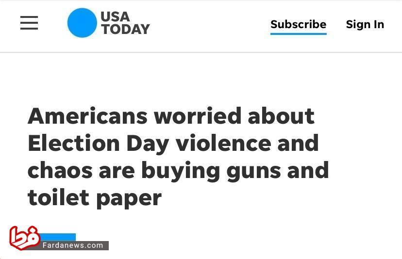 آمریکایی ها در حال ذخیره اسلحه و دستمال توالت+عکس