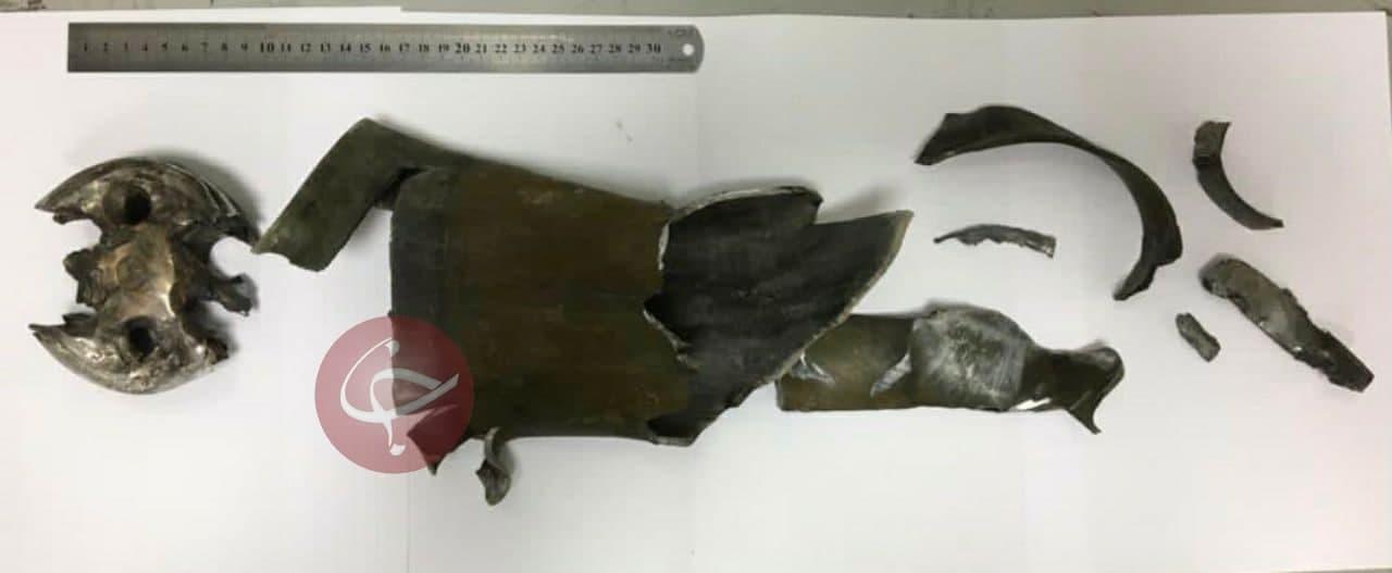 بقایای راکت اصابت شده به سفارت ایران+عکس