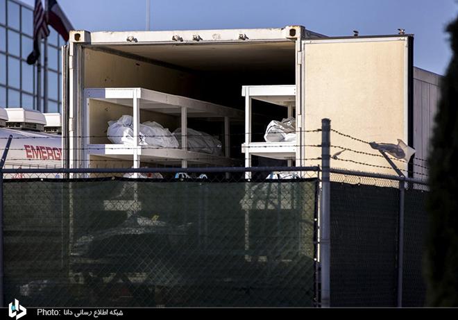 سردخانه سیار اجساد قربانیان کرونا+عکس