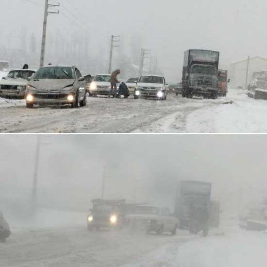 ترافیک سنگین در پیست آبعلی+عکس