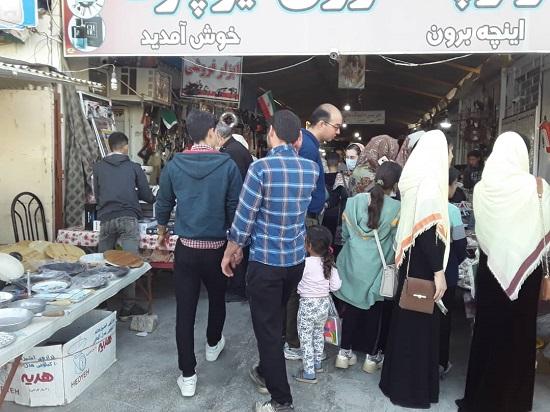 وضعیت عجیب بازارچه مرزی در مرز ایران و ترکمنستان+عکس