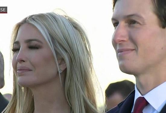 اشک های دختر ترامپ در مراسم خداحافظی پدرش+عکس