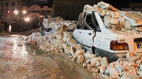 حال و روز پراید پس از زلزله سی سخت+عکس