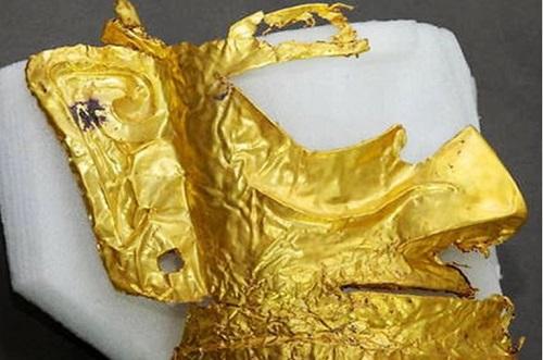 ماسک طلای سه هزار ساله در چین پیدا شد+عکس