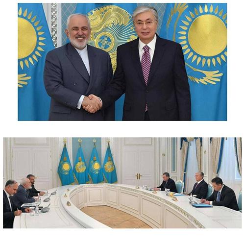 حرکت عجیب ظریف و رئیس جمهور قزاقستان مقابل دوربین+عکس
