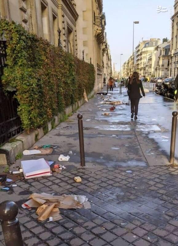 تصویر واقعی پاریس این شکلی است+عکس