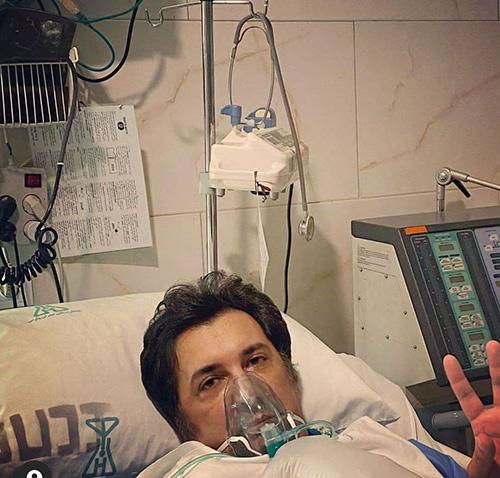 بازیگر معروف به دلیل کرونا در بیمارستان بستری شد+عکس