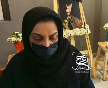 تصویر دردناک از خانم بازیگر پس از فوت همسرش+عکس