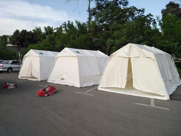 چادرهای صحرایی در بیمارستان بوعلی دانشگاه آزاد برپا شد