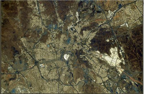 تصویری که فضانورد ژاپنی از مکه منتشر کرد+عکس