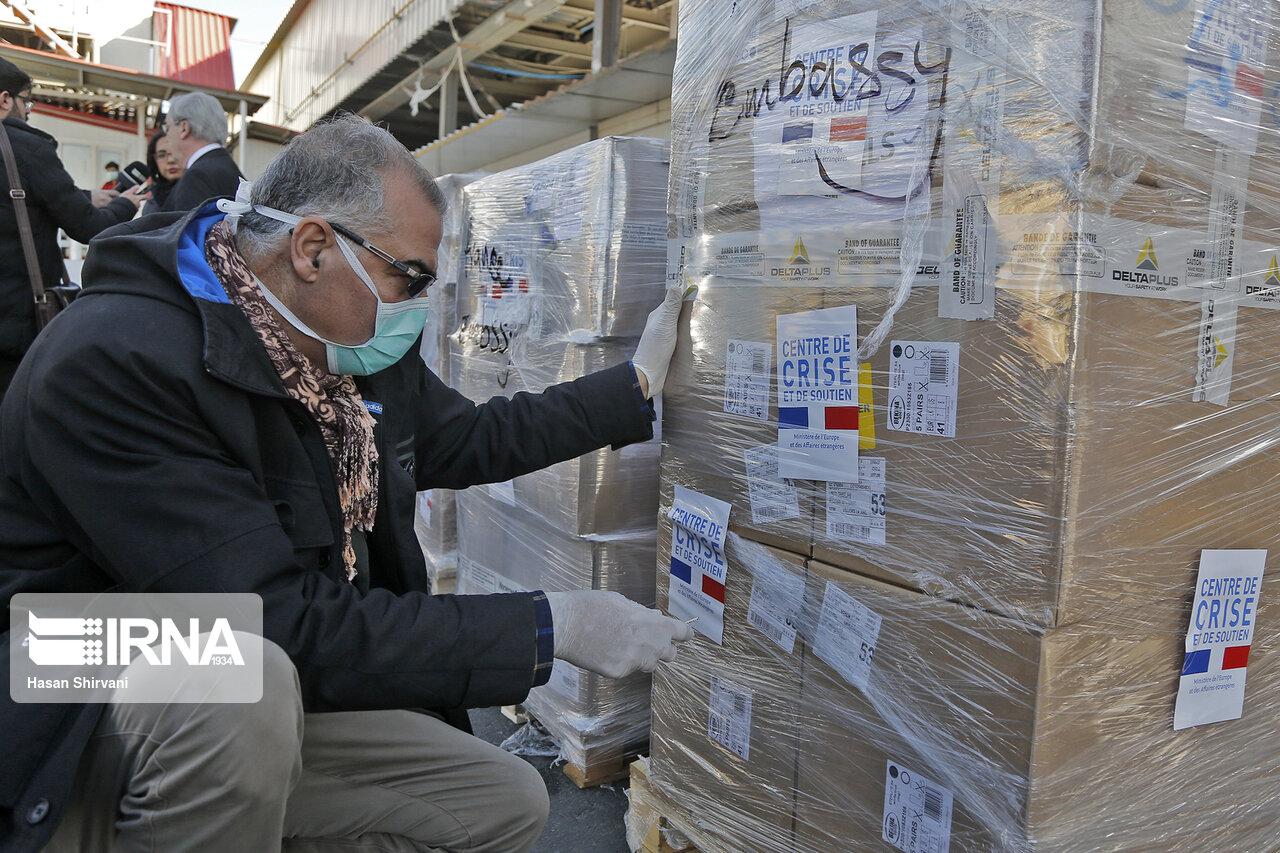 محموله کمکهای بشردوستانه فرانسه