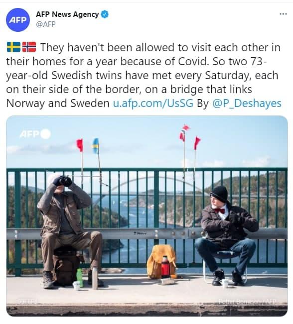 ملاقات دوقلوهای خارجی از پشت خط مرزی+عکس