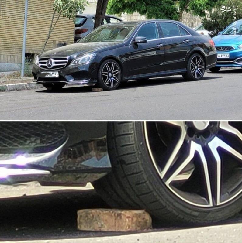 حرکت عجیب صاحب بنز در خیابان های تهران+عکس