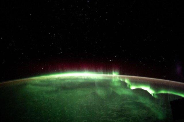 شفق قطبی از منظر فضا