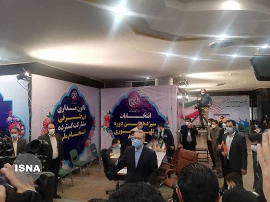 علی لاریجانی و محسن هاشمی هم رسما کاندید شدند+عکس