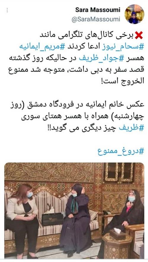 همسر ظریف ممنوع الخروج شد؟+عکس