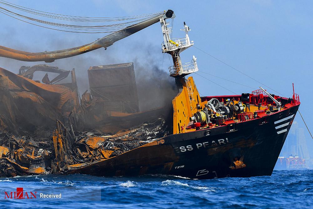 کشتی غول پیکر سریلانکا این طور غرق شد+عکس