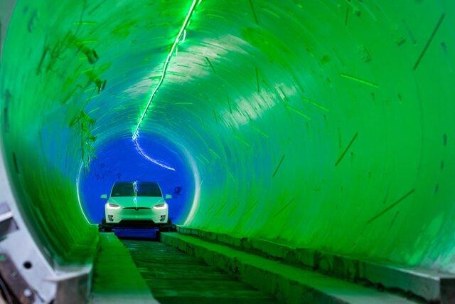 تونل شرکت  بورینگ  پذیرای اولین مسافران