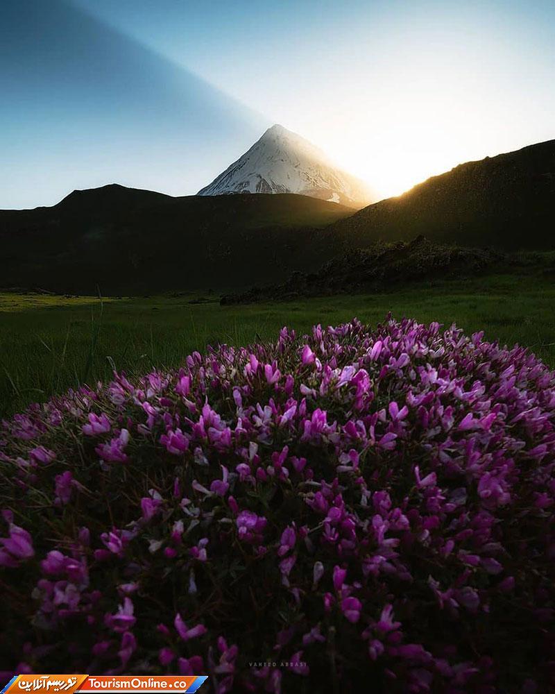 طلوع خورشید از زیباترین جای ایران+عکس