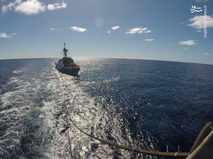 وضعیت ناو ایرانی در اقیانوس اطلس+عکس