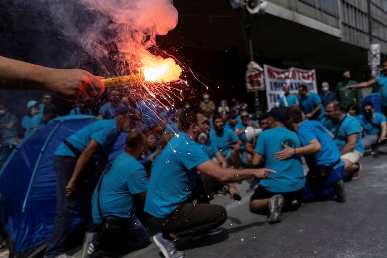 اعتصاب کارگران در یونان+عکس