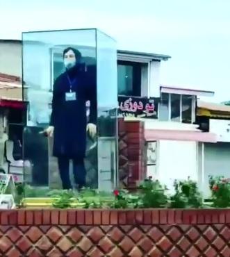 نصب مجسمه نرجس خانعلیزاده در میدان کلاچای+عکس