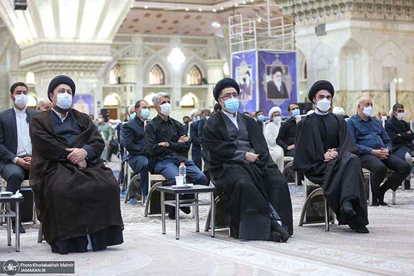 سید حسن خمینی و برادرش در مجلس ختم+عکس