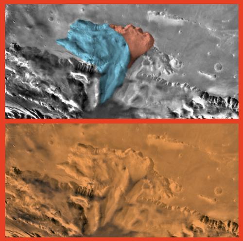 چهره ای مشکوک در مریخ دیده شد+عکس