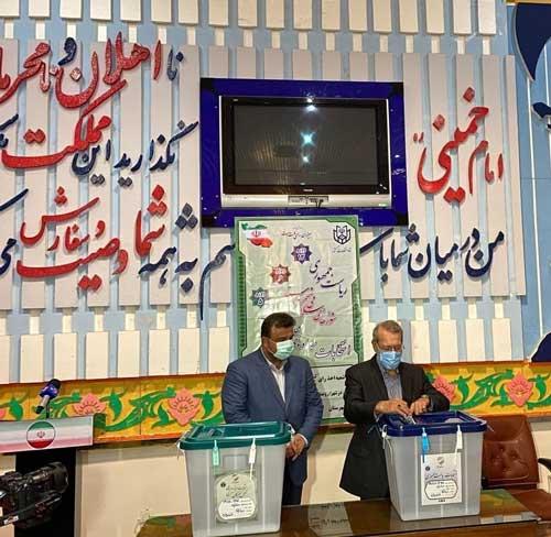 لاریجانی در مازندران رای داد+عکس