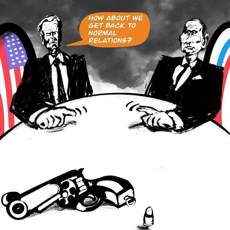 تصویر شوکه کننده از دیدار پوتین و بایدن+عکس
