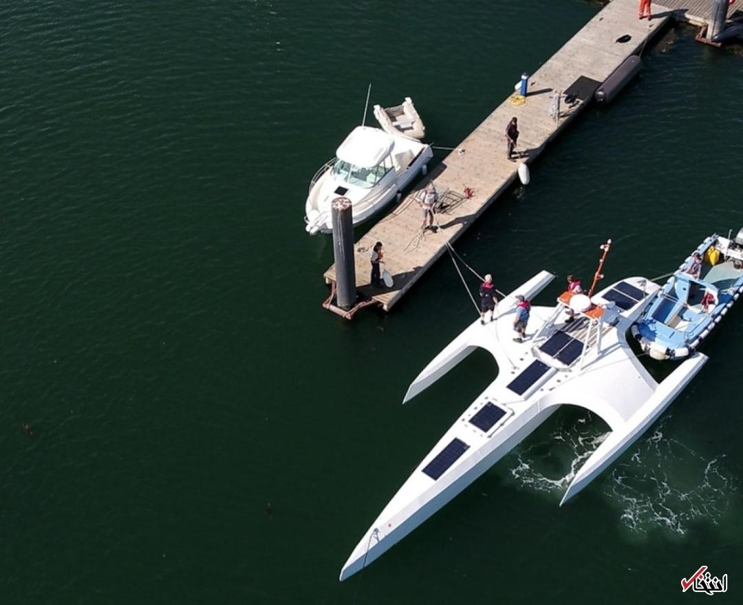 کشتی رباتیک   مای فلاور  راهی سفر به آتلانتیک شد