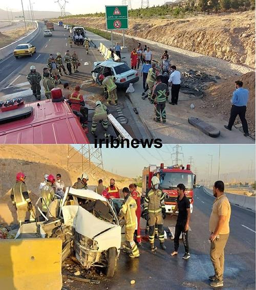 تصادف در مشیریه با هفت مصدوم بدحال+عکس