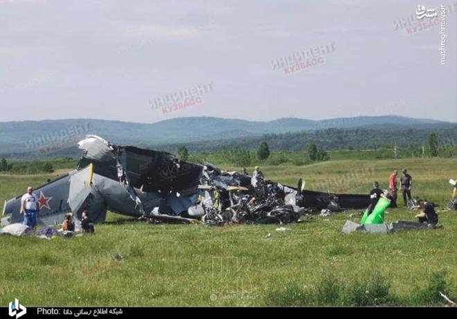 سقوط مرگبار هواپیمای روسی+عکس