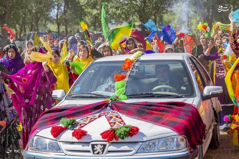 متفاوت ترین تزئین ماشین عروس در  ایران+عکس