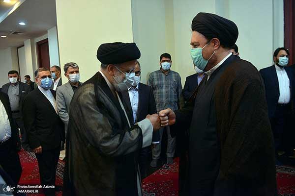 دست دادن خاص رئیسی و سید حسن خمینی+عکس
