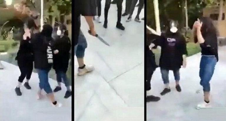 دختر قمه کش اصفهانی علت درگیری اش را لو داد+عکس