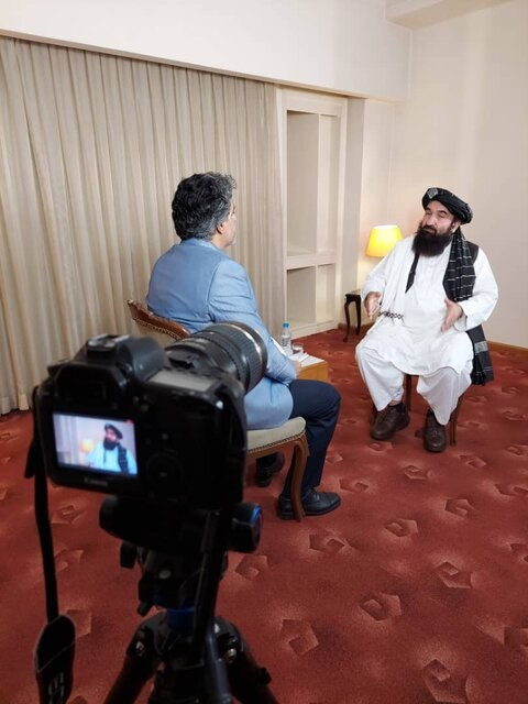 مصاحبه اختصاصی صدا و سیما با عضو ارشد طالبان+عکس