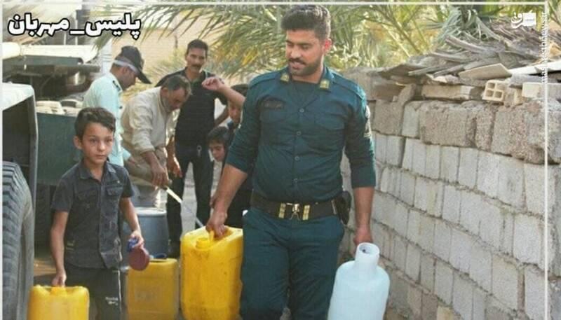 پلیس مهربانی که دیشب در ماهشهر به شهادت رسید+عکس