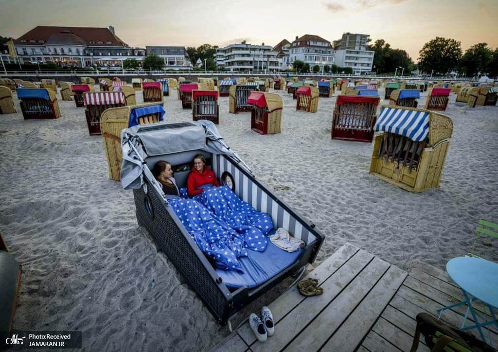 صندلی های متفاوت هتل ساحلی+عکس