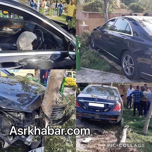 تصادف وحشتناک بنز در تهران+عکس
