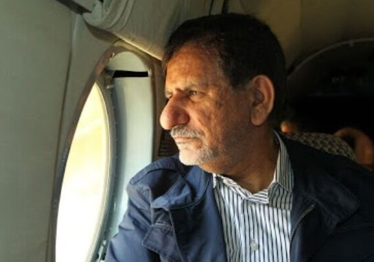 بازدید هوایی جهانگیری از روند آبرسانی به خوزستان