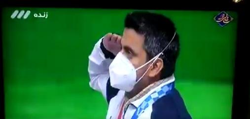 احترام نظامی جواد فروغی به پرچم ایران در المپیک+عکس