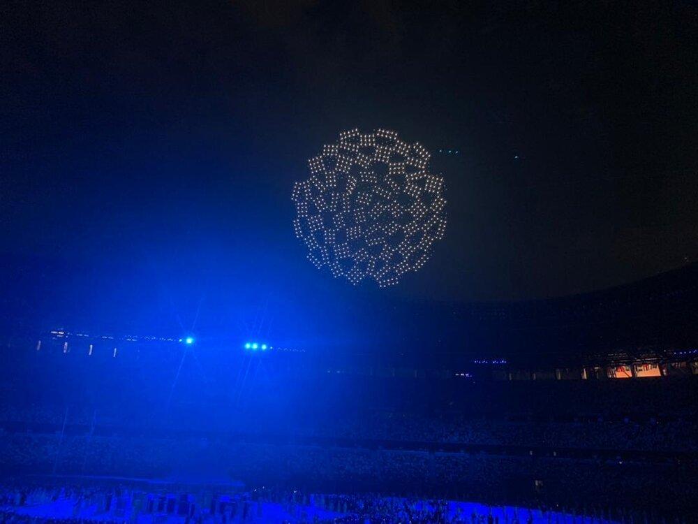 1824 پهپاد در مراسم افتتاحیه المپیک توکیو شرکت کردند
